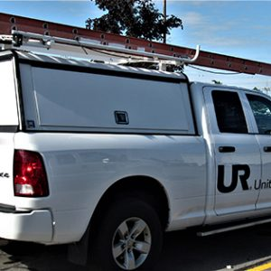 United Radio service truck on the go